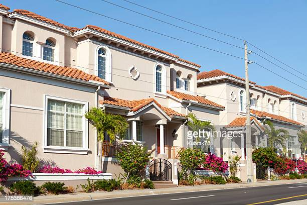 townhouses in  florida - sarasota stock photos and pictures