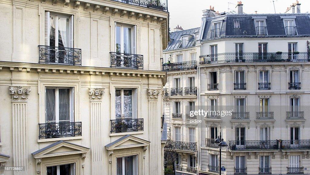 Maisons à Montmartre, Paris en France : Photo