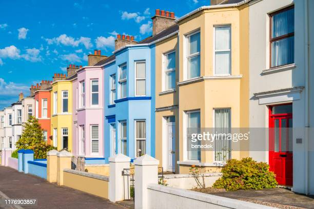 townhouses in portrush northern ireland uk - real estate stock pictures, royalty-free photos & images