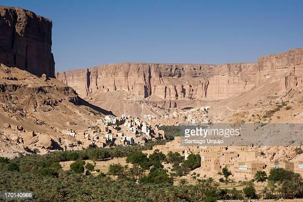 Towns encased in the escarpment of Wadi Hadhramaut