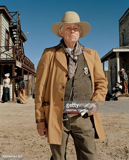 town's sheriff, close-up - sheriff stock pictures, royalty-free photos & images