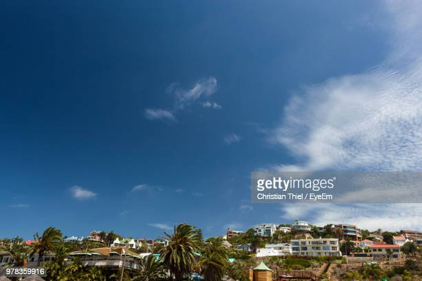 townscape against blue sky - mossel bay stock pictures, royalty-free photos & images