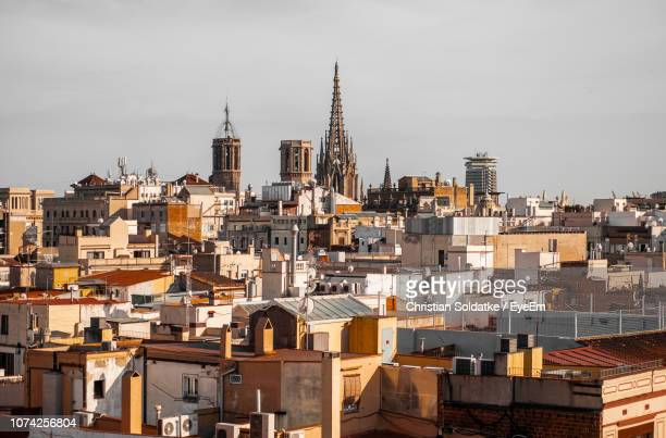 townscape against sky - christian soldatke stock pictures, royalty-free photos & images