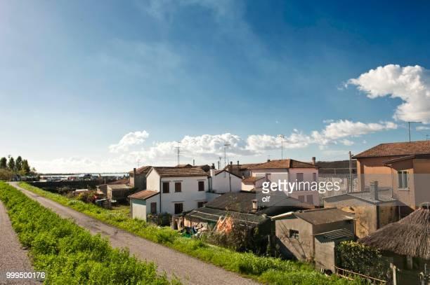 Townscape, Gorino, Delta del Po, Po Delta, Ferrara, Emilia Romagna, Italy
