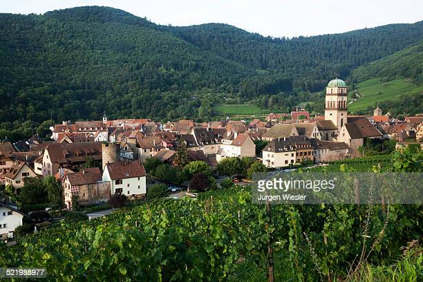 Townscape in the morning light, Kaysersberg, Haut-Rhin, Alsace, Alsace Wine Route, France