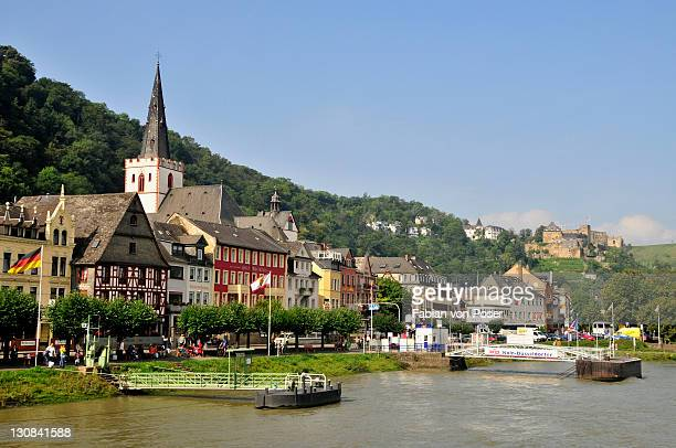 Townscape of St. Goar on the Rhine River, Rhineland-Palatinate, Germany, Europe