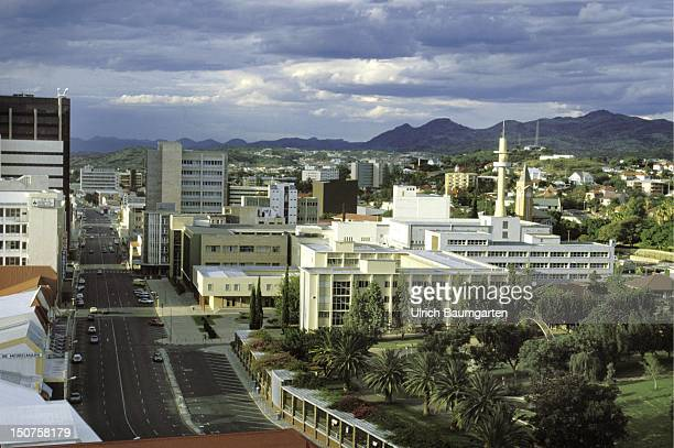 Townscape of Windhoek capital city of Namibia