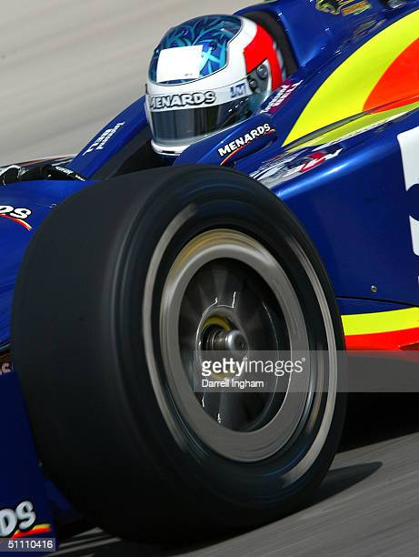 Townsend Bell drives the Menards Panther Racing Chevrolet Dallara during practice for the Indy Racing League IndyCar Series Menards AJ Foyt Indy 225...