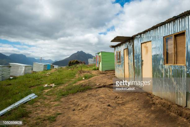 townships of africa - shack stock pictures, royalty-free photos & images