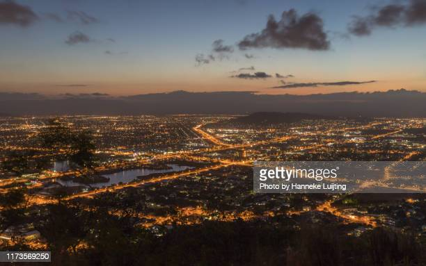 townsville by night - townsville queensland stock pictures, royalty-free photos & images
