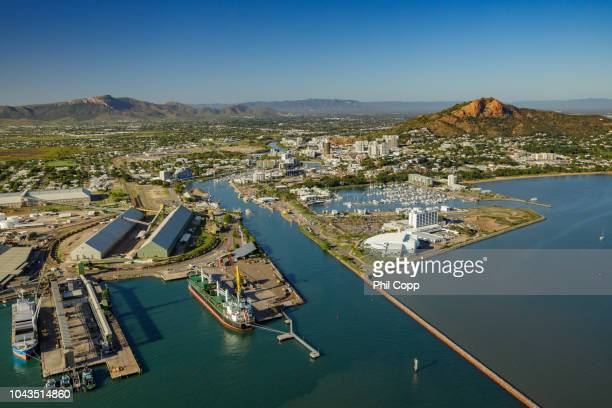 townsville port - townsville queensland stock pictures, royalty-free photos & images
