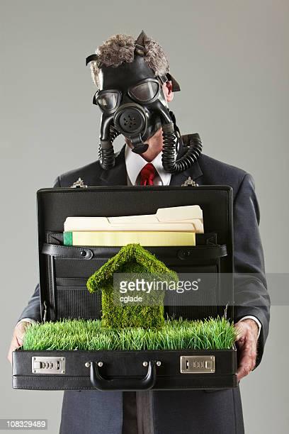 Toxic Environmental Business Man