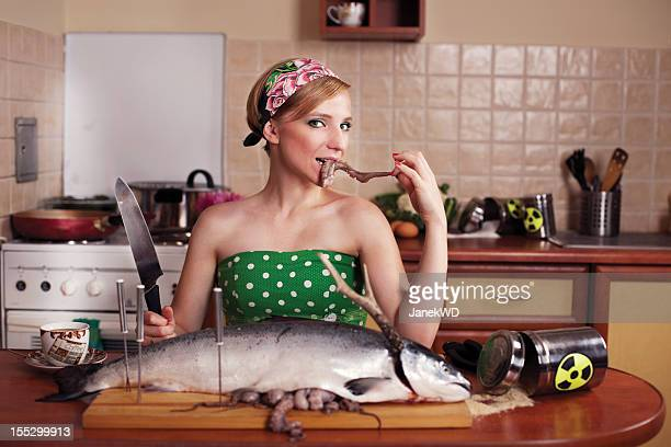toxic kitchen story - big fish stock pictures, royalty-free photos & images