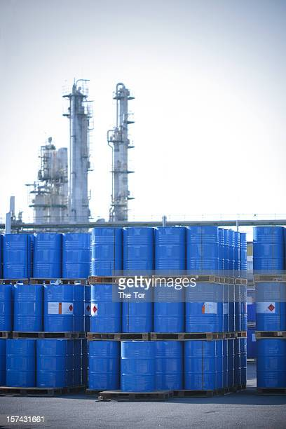 toxic waste - drum container stock photos and pictures