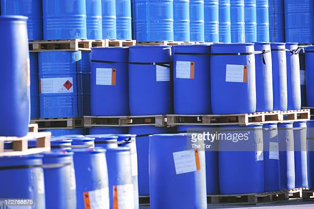 toxic waste - steel drum stock photos and pictures