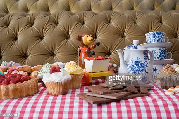 Toy at a tea party