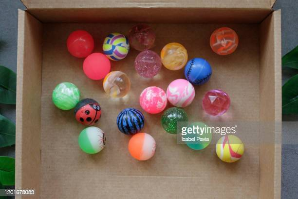 toy balls in box - candy dolls fotografías e imágenes de stock
