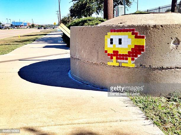 toy blocks attached to wall - street art stock pictures, royalty-free photos & images