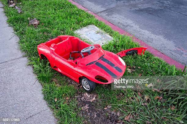 Toy car after accident