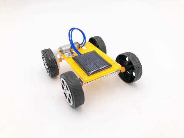 Toy Car Over White Background