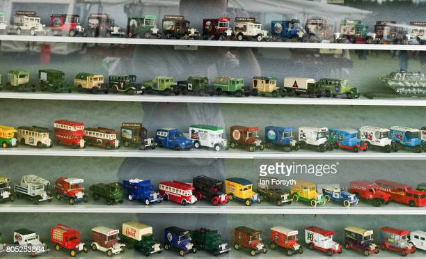 Toy cars are displayed on a stall during the Duncombe Park Steam Rally on July 1 2017 in Helmsley United Kingdom Held annually in the picturesque...