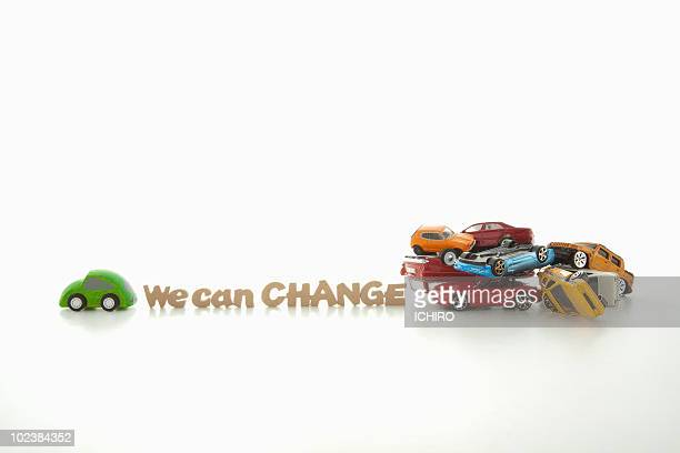 toy cars. - green car crash stock pictures, royalty-free photos & images