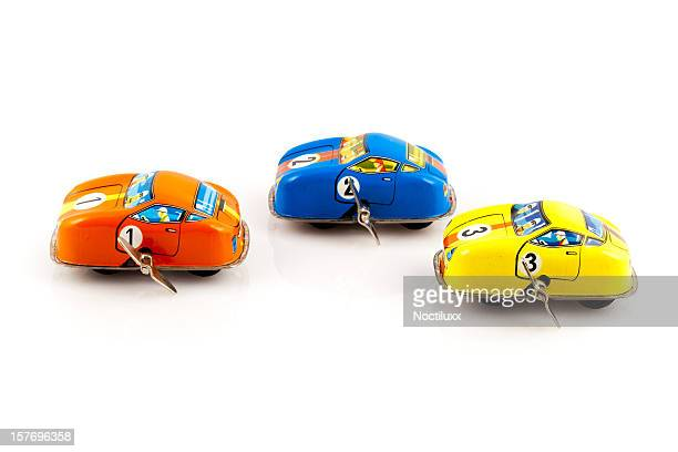 toy cars racing - wind up toy stock photos and pictures