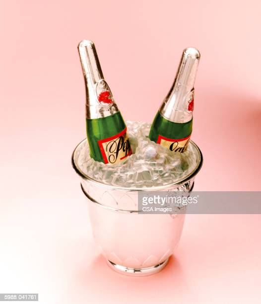 Toy Champagne in Ice Bucket