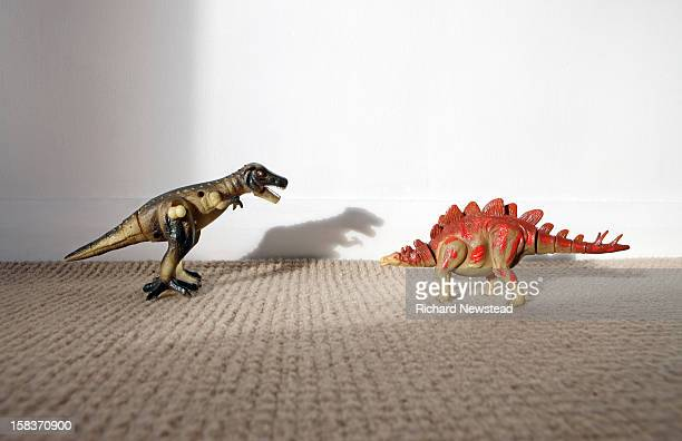 Toy Dinosaur Fight