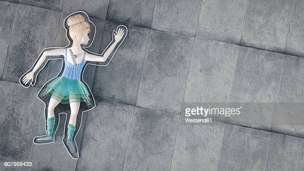 Toy doll lying on ground