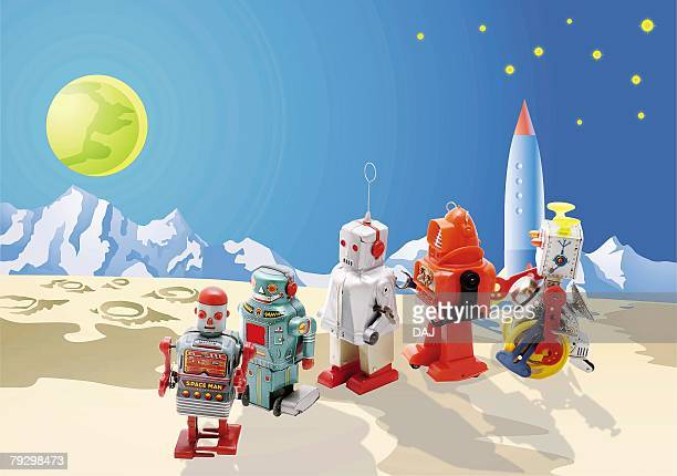Toy Doll, Robots at the Planet, High Angle View