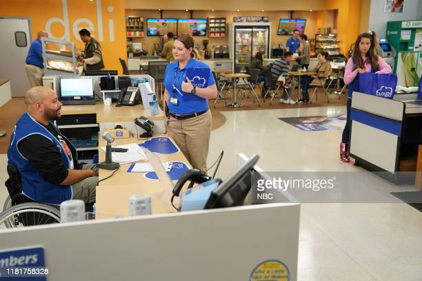 SUPERSTORE Toy Drive Episode 508 Pictured Colton Dunn as Garrett Lauren Ash as Dina Nichole Bloom as Cheyenne