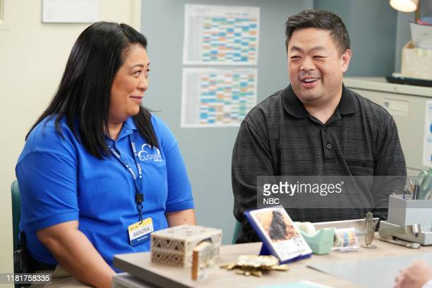 SUPERSTORE Toy Drive Episode 508 Pictured Kaliko Kauahi as Sandra Chris Grace as Jerry