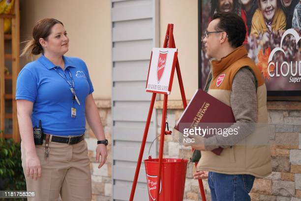 SUPERSTORE Toy Drive Episode 508 Pictured Lauren Ash as Dina Fred Armisen as Kyle