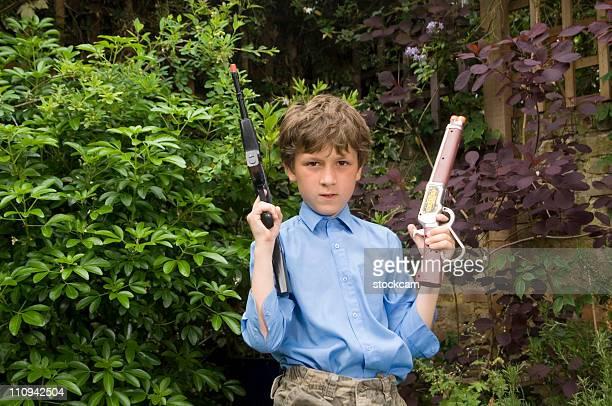 toy gun - kopfschuss stock-fotos und bilder