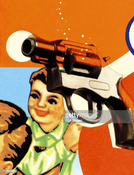 toy gun - trigger stock photos and pictures