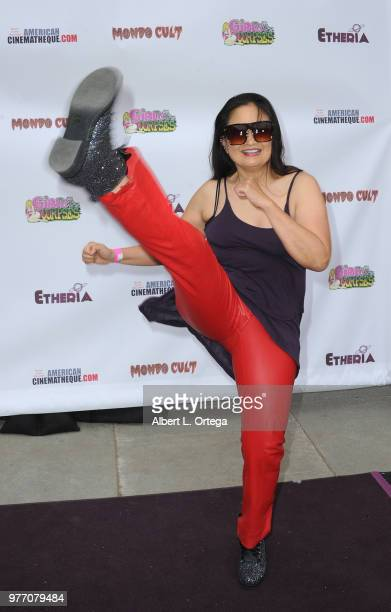 Toy Lei arrives for the 2018 Etheria Film Night held at the Egyptian Theatre on June 16 2018 in Hollywood California