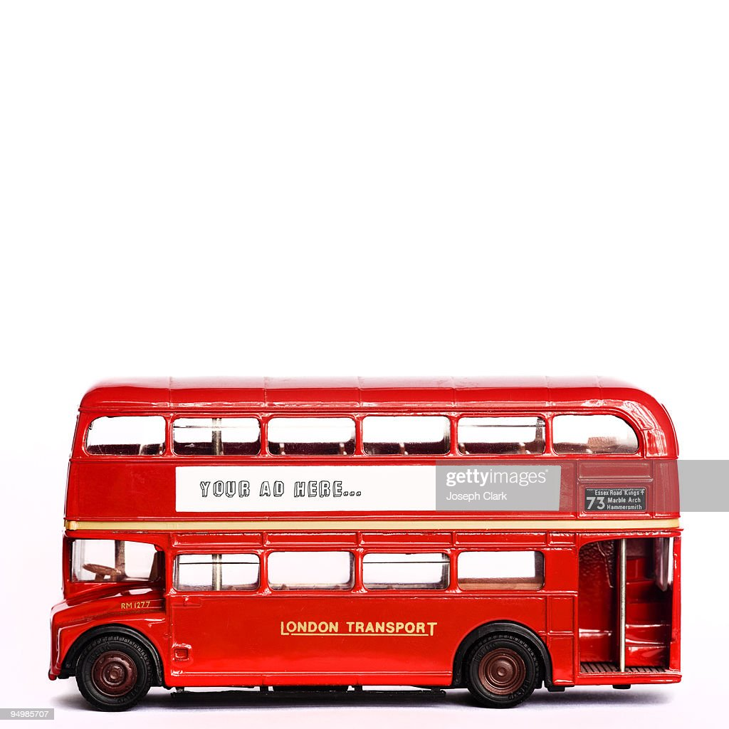 toy london bus stock foto getty images. Black Bedroom Furniture Sets. Home Design Ideas