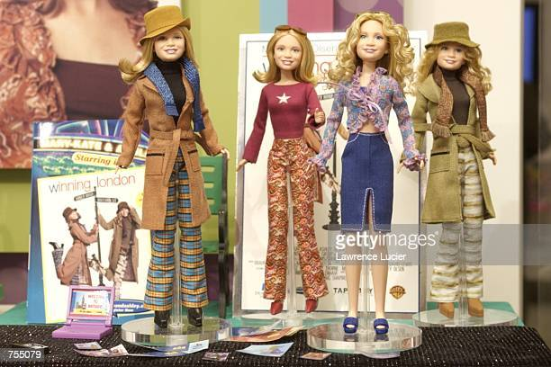 Toy maker Mattel Inc featured an extended line of Mary Kate and Ashley figures at the International Toy Fair February 10 2002 in New York The new...