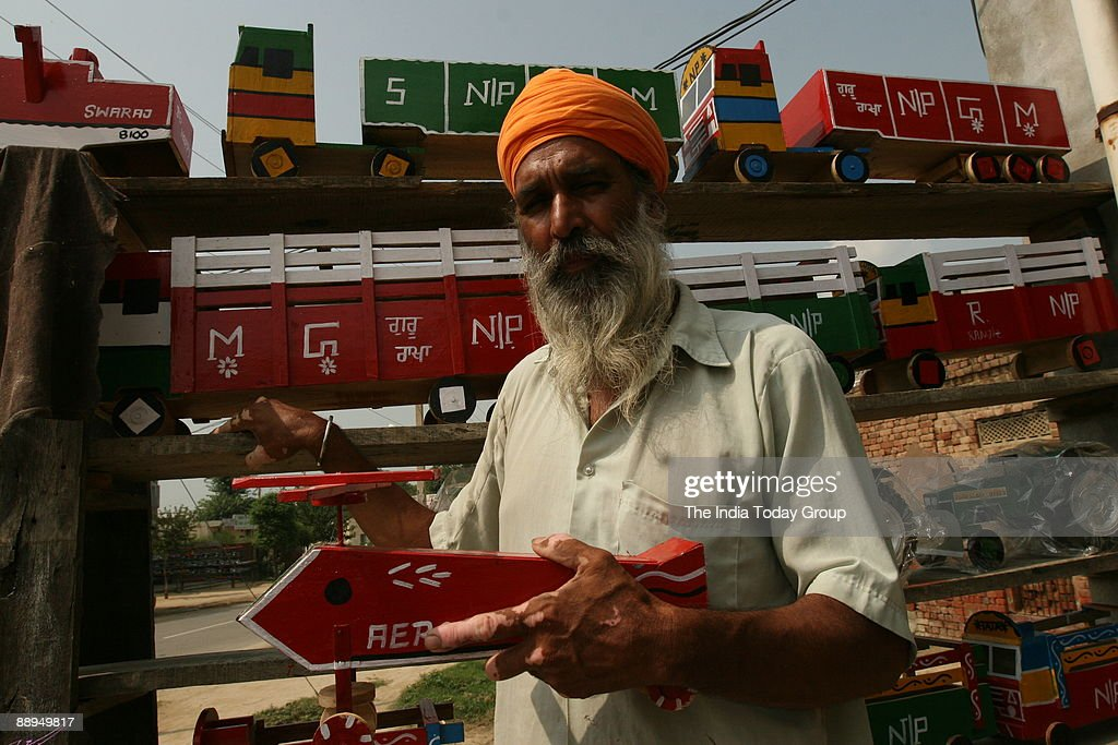 Toy Makers showing of the Kid toys in Jalandhar Punjab India