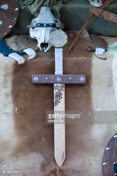 Toy medieval sword