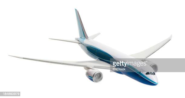Toy Model Jetliner Airplane Isolated on White Background
