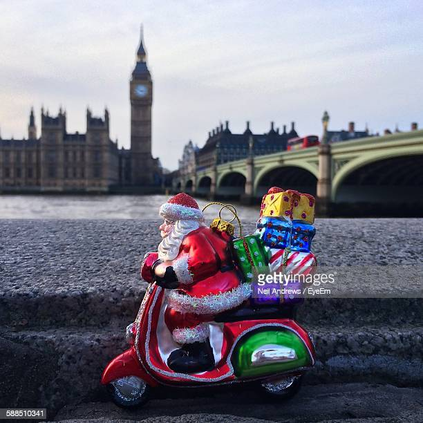 Toy On Retaining Wall With Big Ben In Background