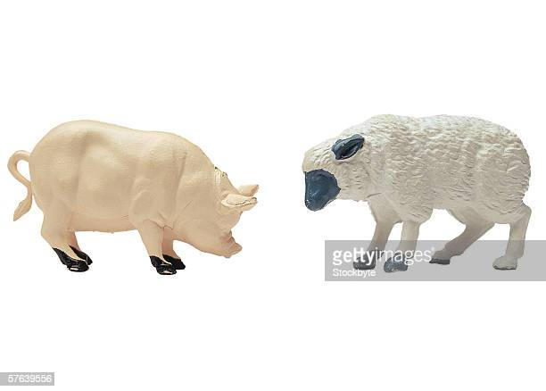toy pig and sheep