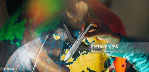 toy plane - physical geography stock pictures, royalty-free photos & images