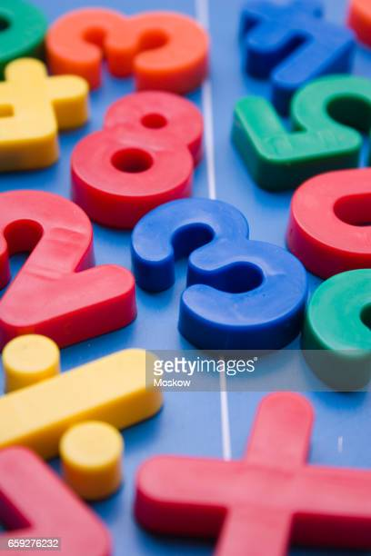 Toy plastic numbers