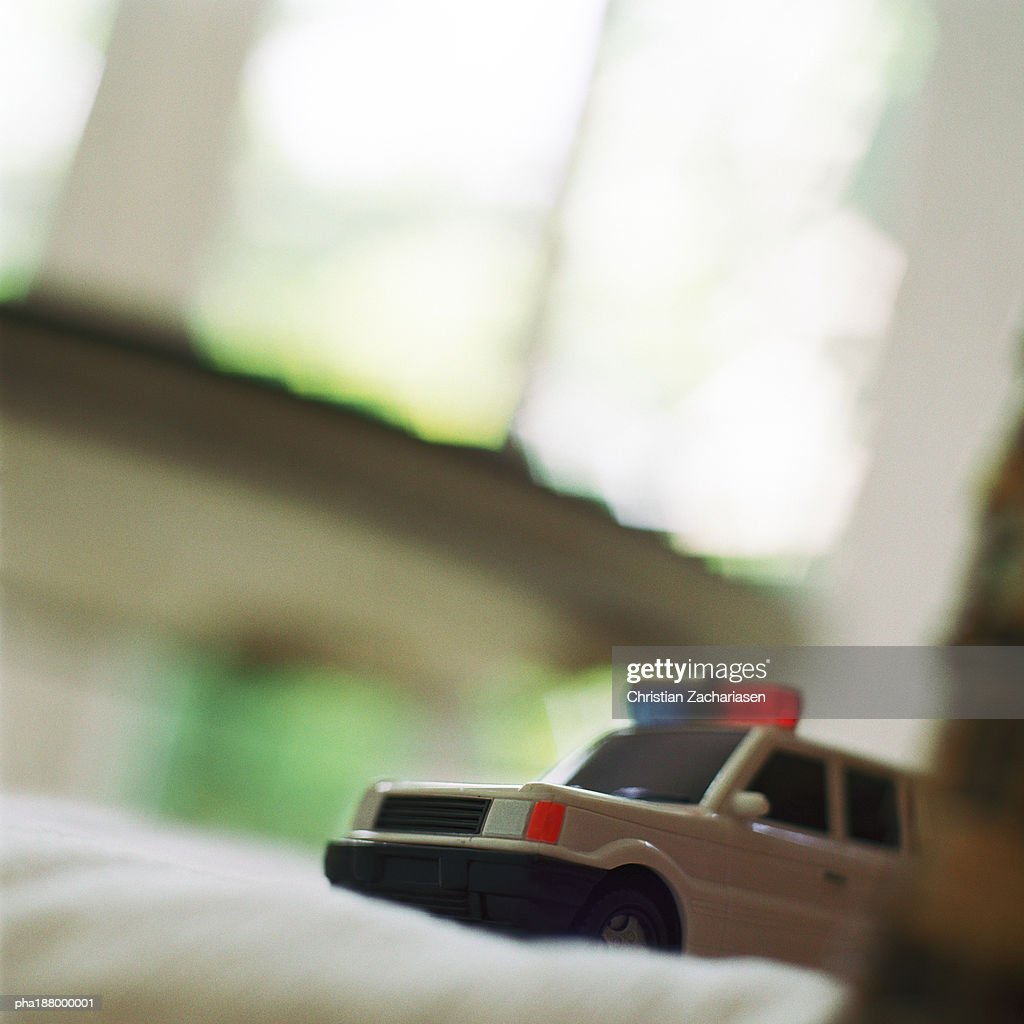 Toy police truck. : Stockfoto