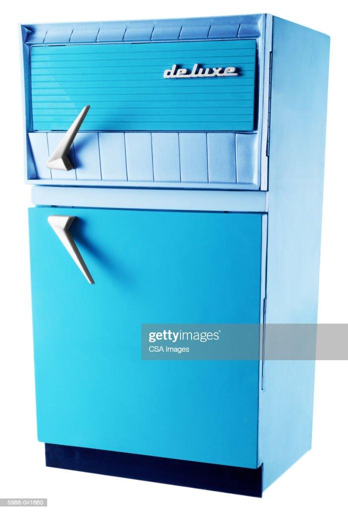 Toy Refrigerator : Stock Photo