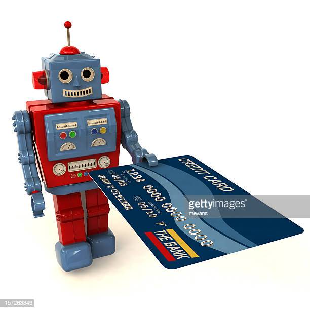 Toy Robot Offering a Credit Card