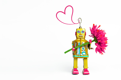 Toy Robot on a White Background - gettyimageskorea